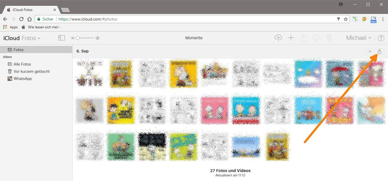 icloud fotomediathek album